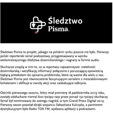 Sebastian Kulczyk i Fundacja One Day Mecenatem Śledztwa Pisma